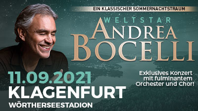 Andrea Bocelli  © Leutgeb Entertainment
